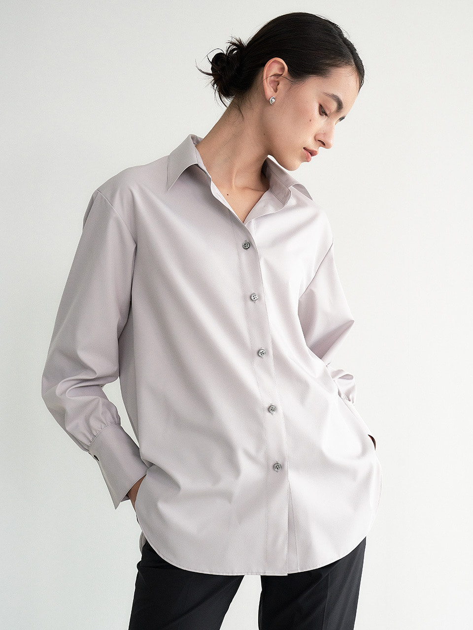 [9/23 예약배송] 004 ECOPET Sustainable Standard Shirt (Light Grey)