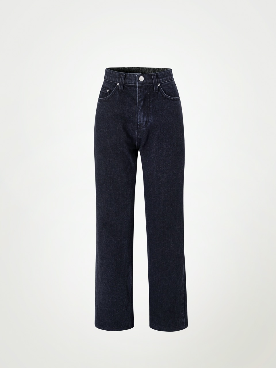 4W Black Washing Straight-fit Jeans